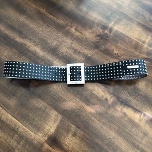 Michael Kors | Studded Silver Black Belt